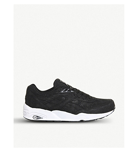PUMA Trinomic R698 faux-leather trainers (Bape black camo