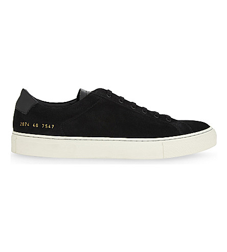 COMMON PROJECTS Achillies retro suede trainers (Black+suede