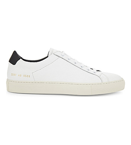 COMMON PROJECTS Achillies retro leather low-top trainers (White+black