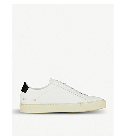 COMMON PROJECTS Achilles Retro low-top leather trainers (White+black+leather
