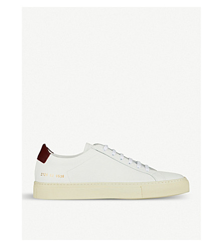 COMMON PROJECTS Achilles low-top leather trainers (White+leather