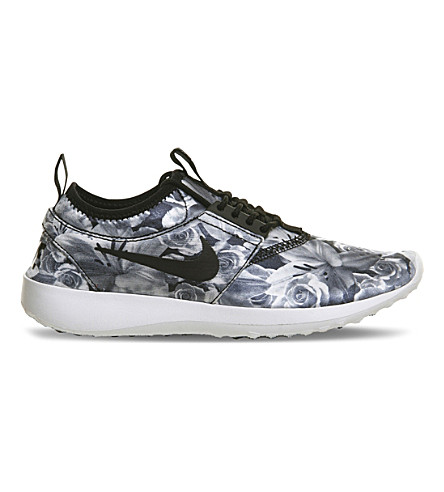 NIKE Juvenate floral-print foldable sneakers (Black+white+floral