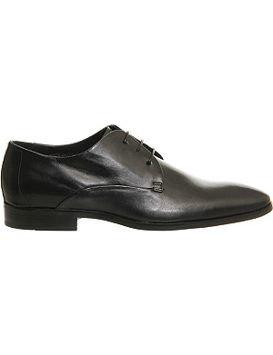 ASK THE MISSUS Beat plain toe leather derby shoes