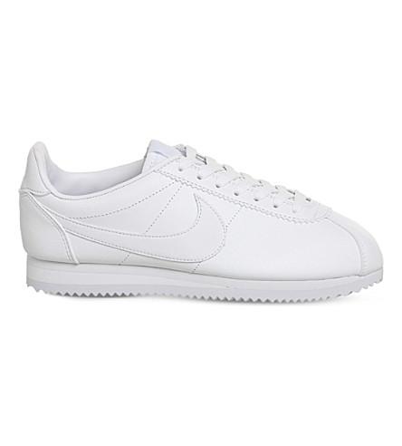 NIKE Cortez classic leather trainers (White mono leather