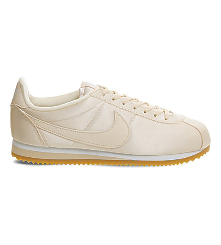 NIKE Cortez satin trainers (Barely+orange+satin