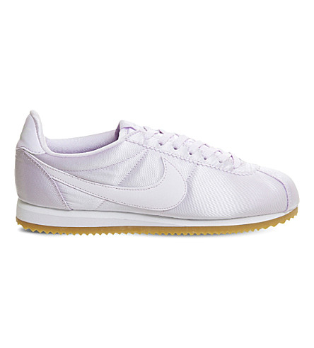NIKE Cortez satin trainers (Barely+grape+satin