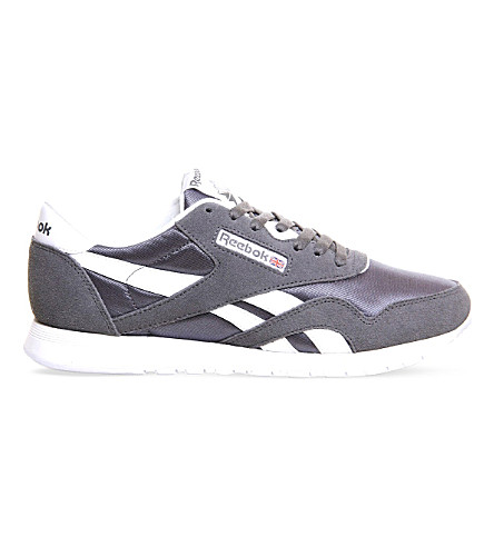 REEBOK Classic suede and nylon trainers (Alloywhite