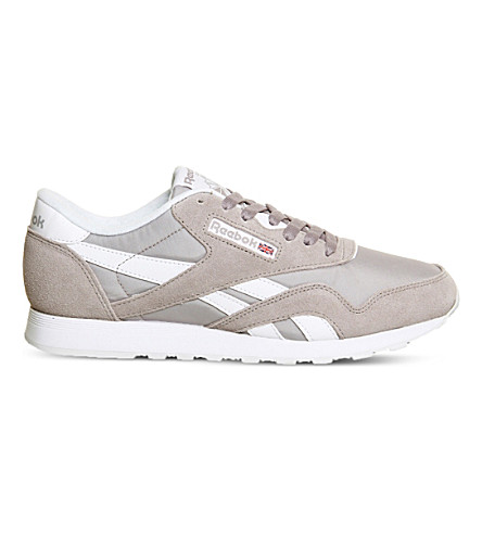 REEBOK Classic suede trainers (Whisper grey white