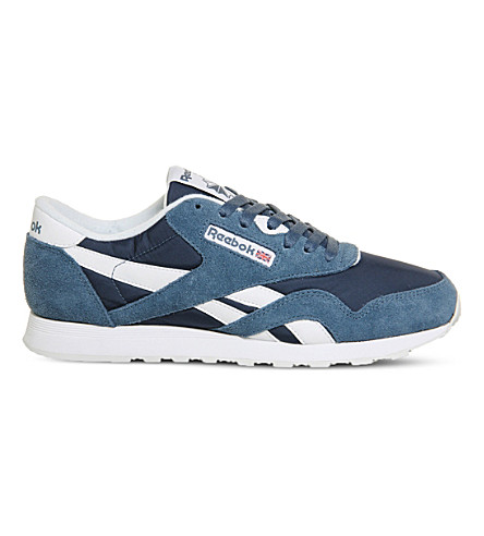 REEBOK Classic suede trainers (Brave blue white