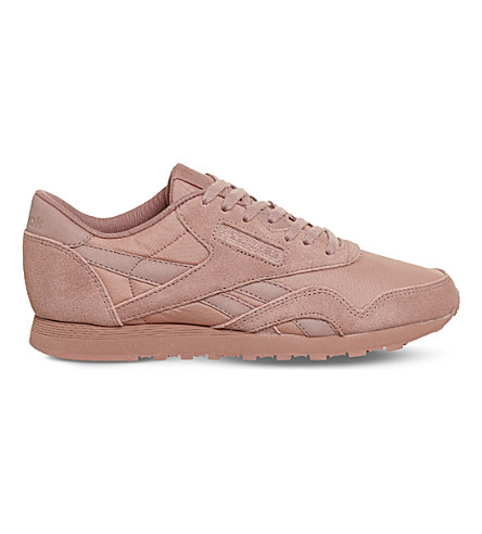 REEBOK Classic suede trainers (Sandy+rose+mono