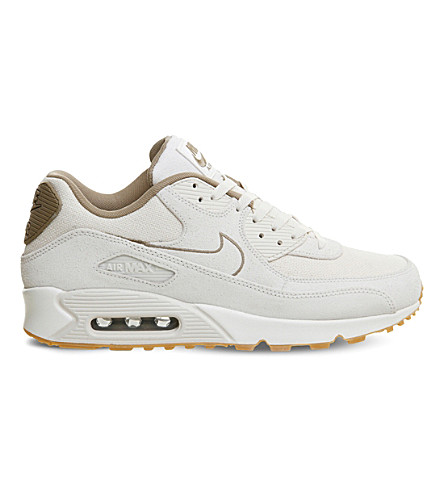 NIKE Air Max 90 leather trainers (Phantom+khaki+sail