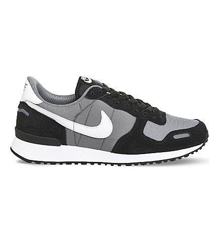 NIKE Air Vortex leather and mesh trainers (Black+white