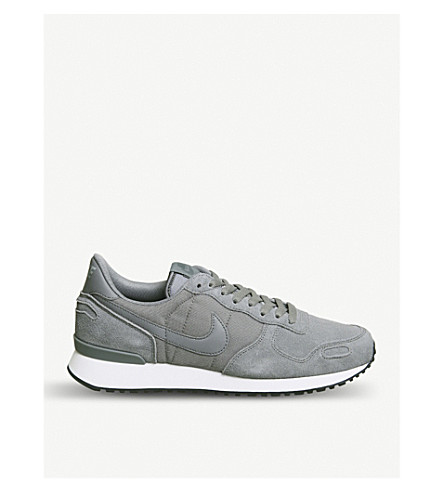 NIKE Air Vortex suede and mesh trainers (Cool+grey+white