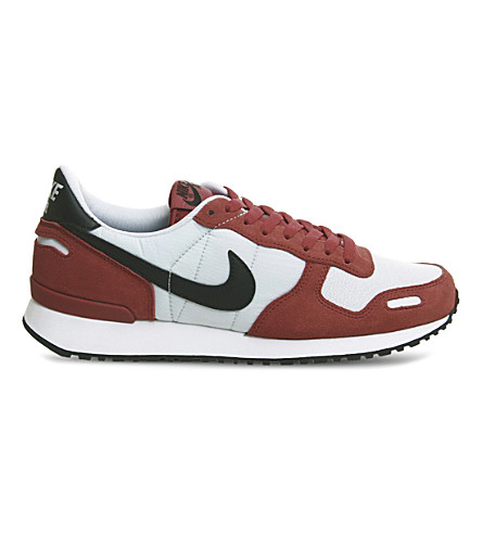 NIKE Air Vortex suede and mesh trainers (Gym+red+black+white