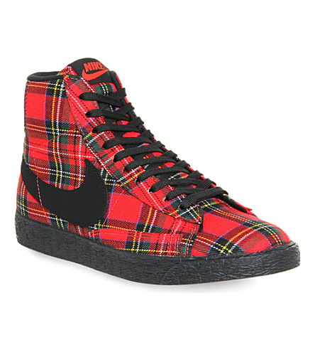 NIKE Nike Blazer Mid trainers (Action red black pl