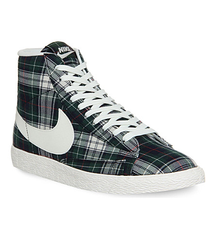 NIKE Nike Blazer Mid trainers (Deepest green whit