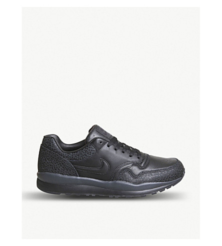 NIKE Air Safari leather trainers (Black+anthracite+qs