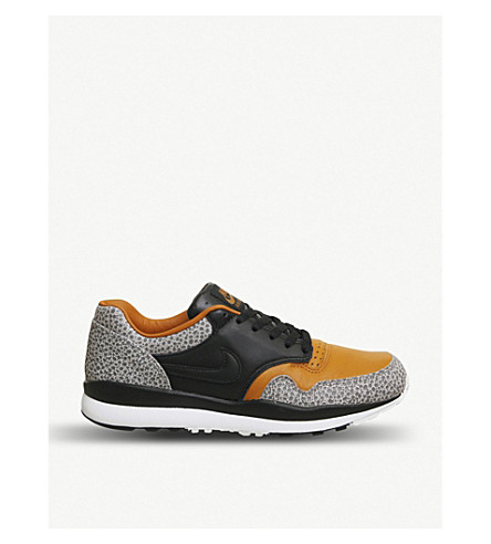NIKE Air Safari leather trainers (Black+monarch