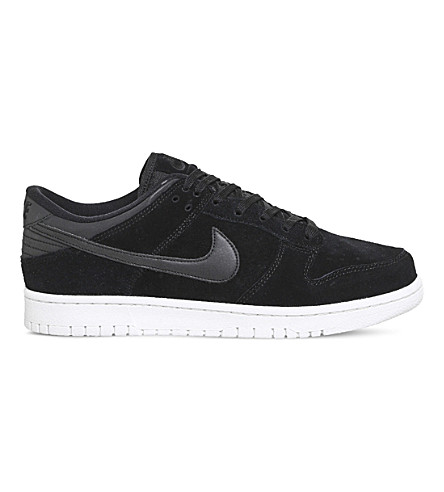 NIKE Dunk Retro suede trainers (Black+summit+white