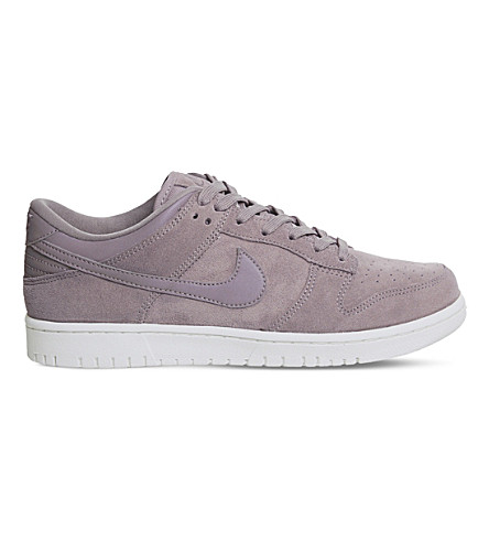 NIKE Nike Dunk low suede trainers (Taupe+grey+white