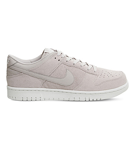 NIKE Nike Dunk low suede trainers (Silt+red+white