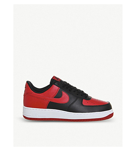NIKE Air force 1 leather trainers (Black gym red white