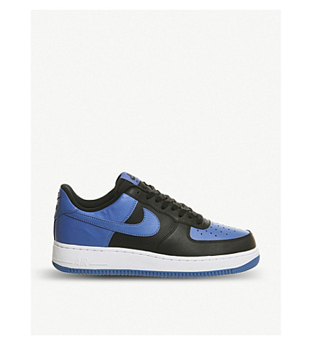 NIKE Air force 1 leather trainers (Black blue white
