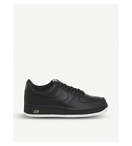 NIKE Air Force 1 07 leather sneakers (82+black