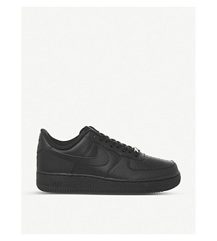 NIKE Air force one low top trainers (Black+black