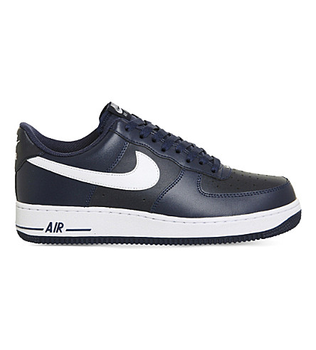 NIKE Air force 1 leather low-top trainers (Midnight navy