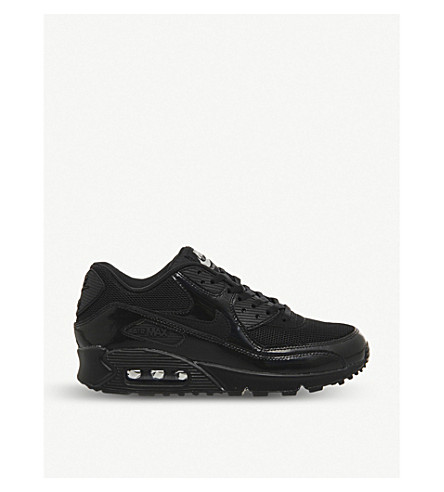 NIKE Air max 90 suede and mesh trainers (Black/silver