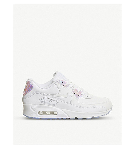 NIKE Air max 90 leather trainers (White blue tint