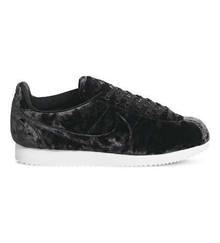 NIKE Nike Classic Cortez OG velvet trainers (Black+velvet+lux