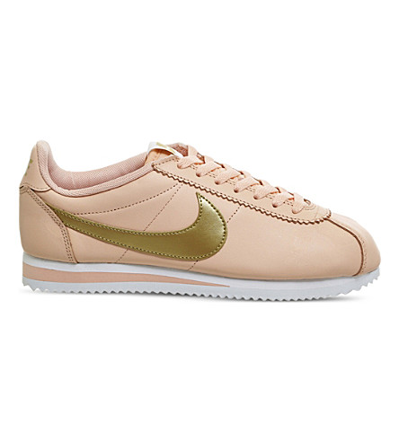 NIKE Classic Cortez OG leather trainers (Artic+orange+gold