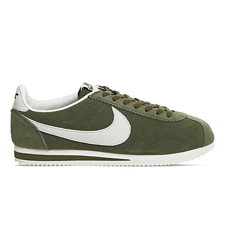 NIKE Classic Cortez OG suede trainers (Legion+green+sail