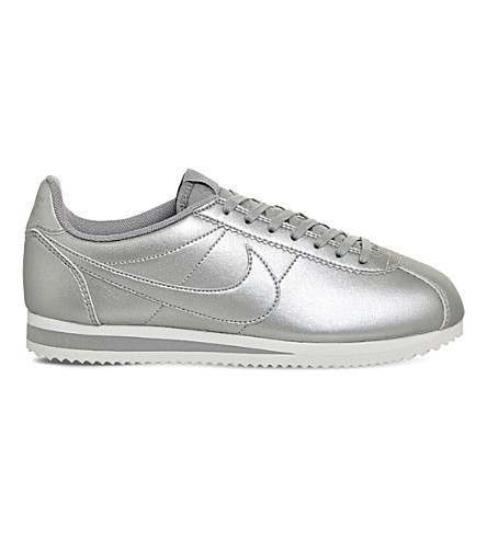 NIKE Classic Cortez OG metallic-leather trainers
