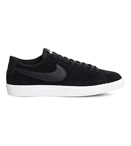 NIKE Blazer suede low-top vintage trainers (Black+sail+lilac