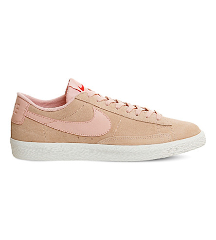 NIKE Blazer low-top suede trainers (Artic+orange+white