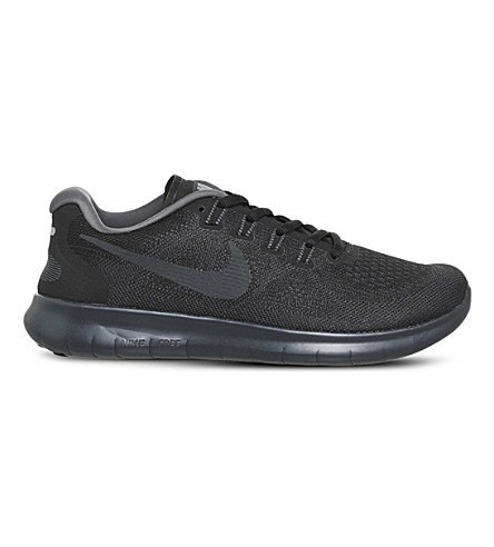 NIKE Free rn 2017 textile trainers (Anthracite+dark+grey