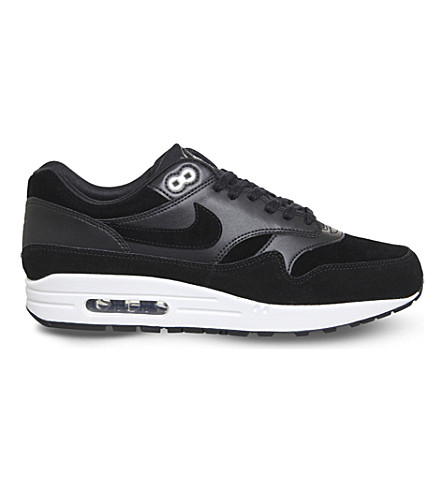 NIKE Air Max 1 Skulls leather and suede trainers (Black+chrome+skull