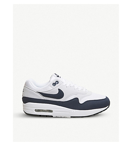 NIKE Air Max 1 leather trainers (White+obsidian+black