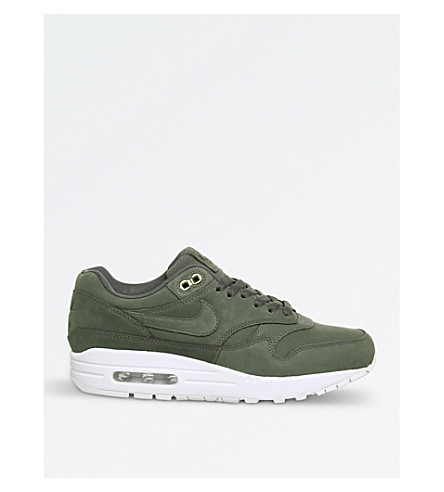 NIKE Air Max 1 leather trainers (River+rock+white