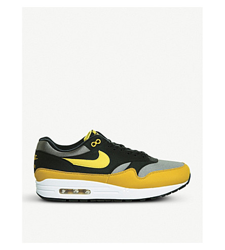 NIKE Air Max 1 suede and mesh trainers (Dark+stucco+vivid