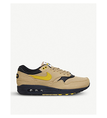 NIKE Air Max 1 low-top textile trainers (Gold+yellow+black