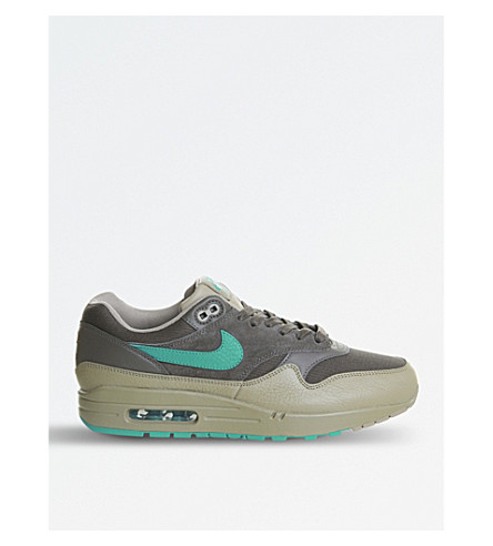 NIKE Air Max 1 suede and leather trainers (Turbo+green
