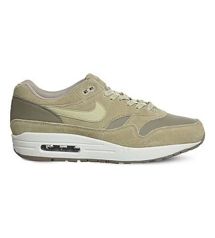 NIKE Air Max 1 suede trainers (Cargo+mushroom