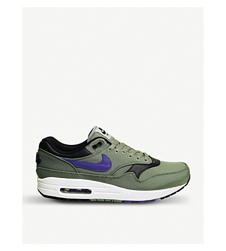 NIKE Air Max 1 textile trainers (Clay+green+floral