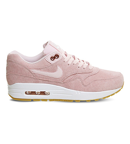 NIKE Air Max 1 suede sneakers (Prism+pink+white