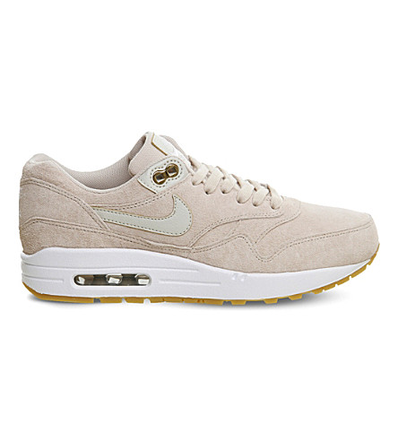 NIKE Air Max 1 suede trainers (Oatmeal+white+suede