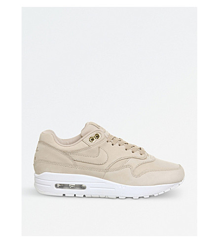 NIKE Air Max 1 leather trainers (Bio+beige+white